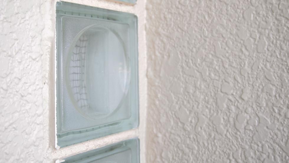 玄関のガラスブロック