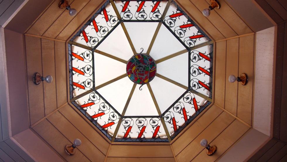 商店街クロスの天井
